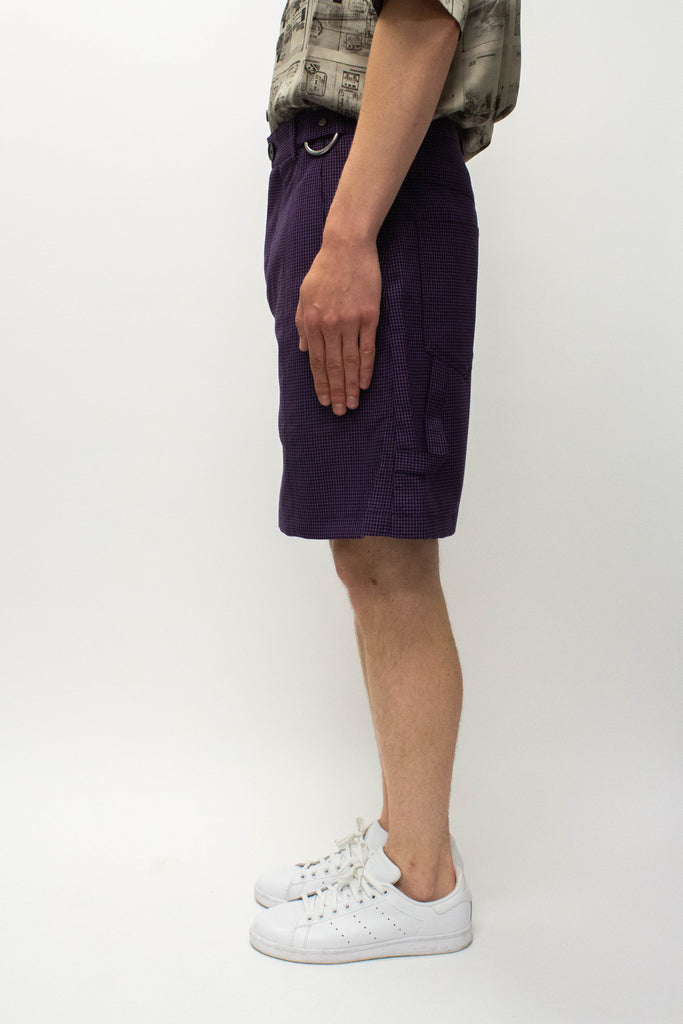 Necessity Sense Toni Cropped Worker Shorts In Violet