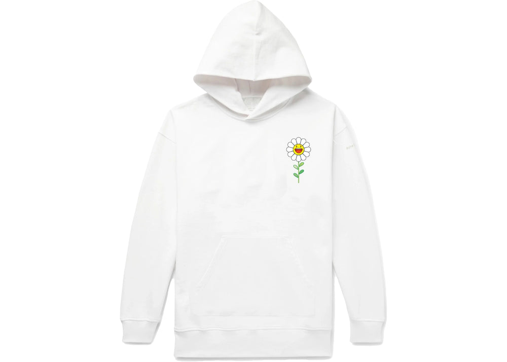 Load image into Gallery viewer, Balvin X Murakami Blanco Flower Hoodie In White