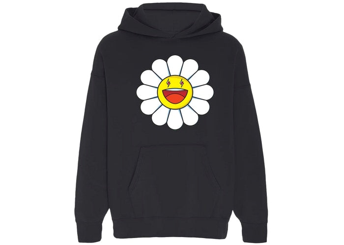 Balvin X Murakami Blanco Large Flower Hoodie In Black