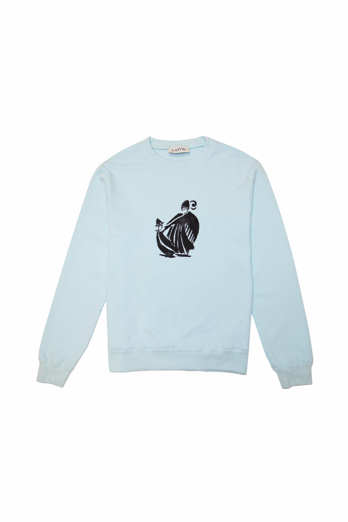LANVIN Mother & Daughter Print Sweatshirt In Blue