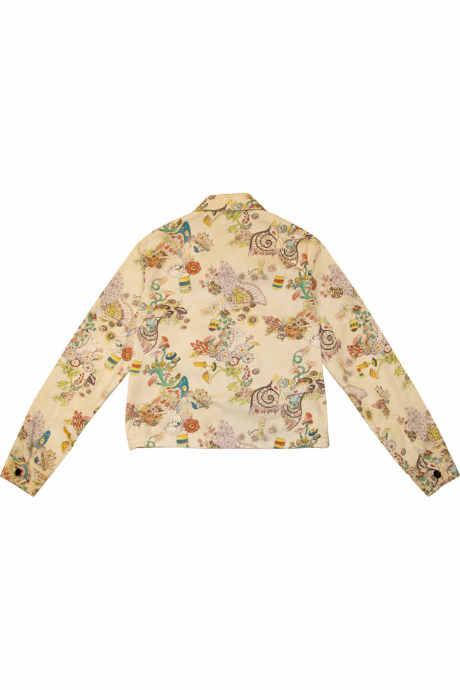 Load image into Gallery viewer, LANVIN 'Flower Fairy' Stonewash Blouson In Ecru - CNTRBND