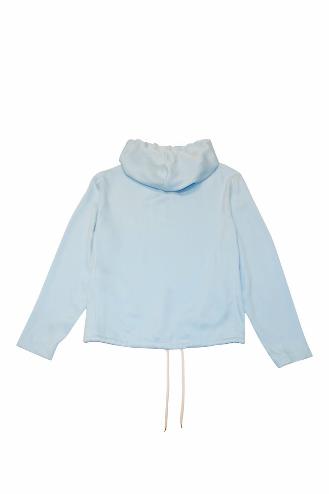 LANVIN Hooded Oversized Shirt In Blue - CNTRBND
