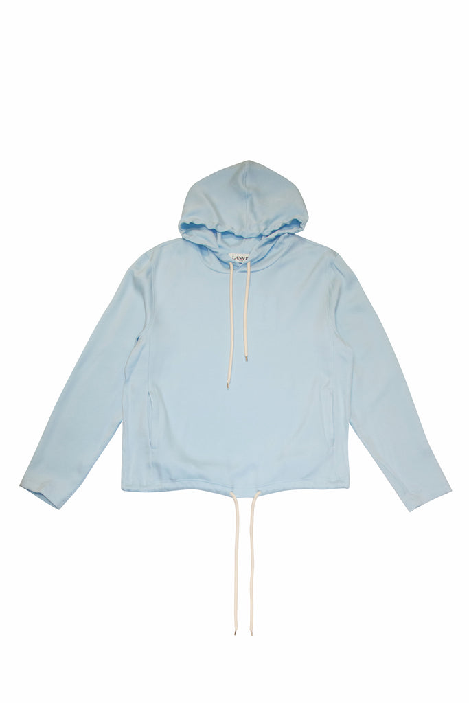 LANVIN Hooded Oversized Shirt In Blue
