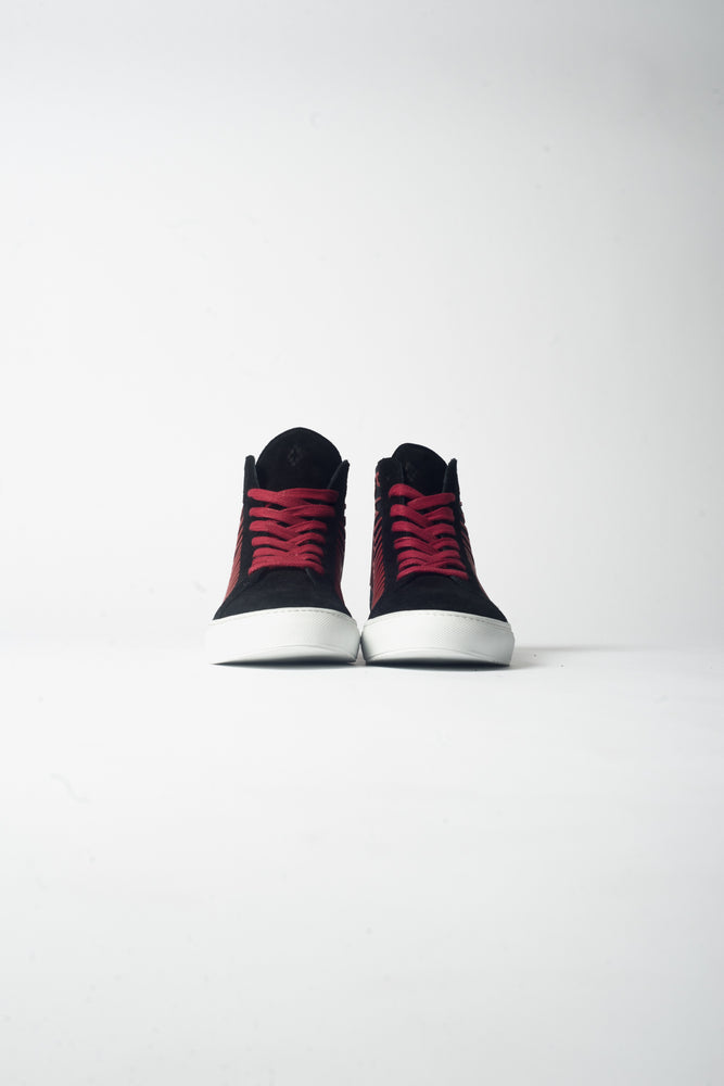 Marcelo Burlon Coralie Wings High Top Sneaker In Black