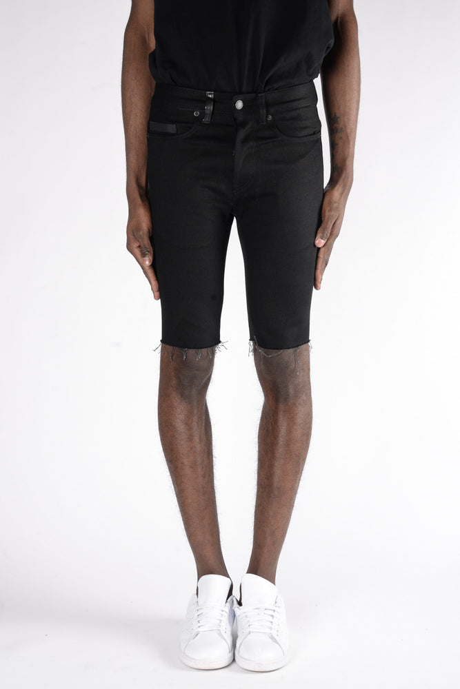 Marcelo Burlon Julio Short Fit Jeans In Raw Wash - CNTRBND
