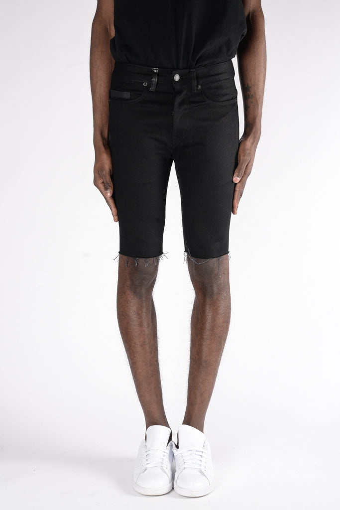 Marcelo Burlon Julio Short Fit Jeans In Raw Wash