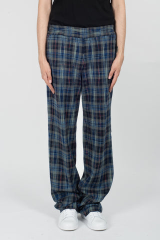Missoni Drawstring Trousers In Plaid
