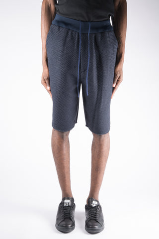 Alexander Wang Wool Tartan Basketball Shorts In Navy