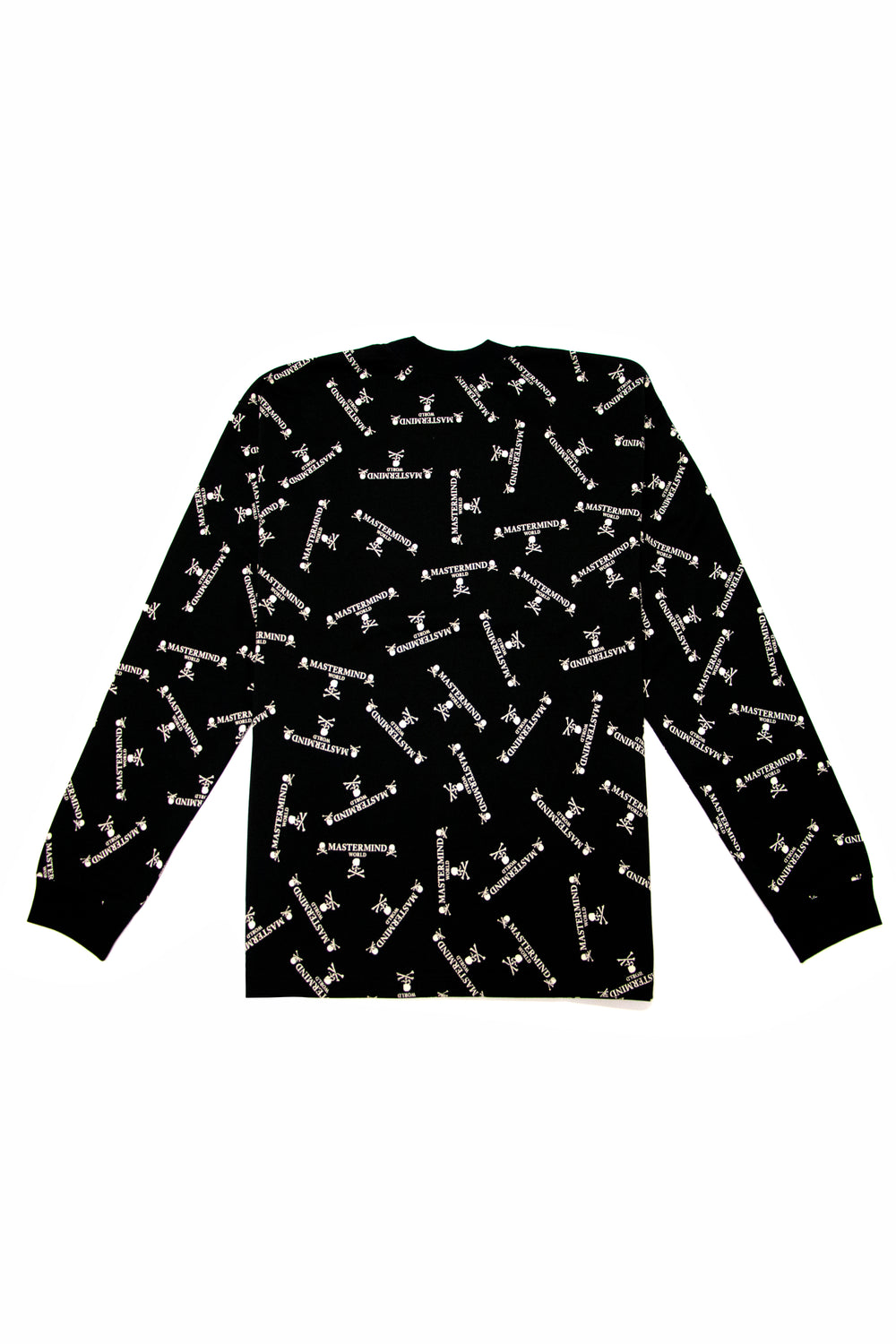 Mastermind World All Over Logo Crewneck In Black