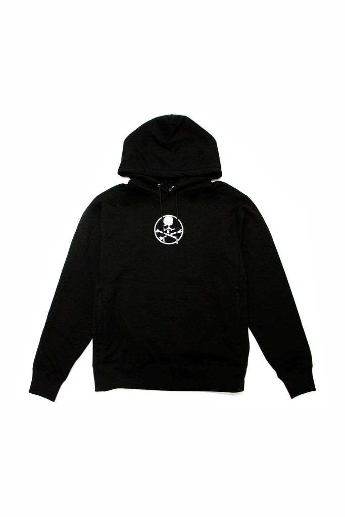 Mastermind World Velvet Logo Hoodie In Black