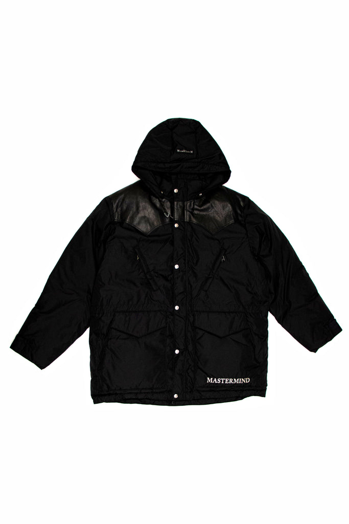 Mastermind World X RMFB Hooded Down Jacket In Black