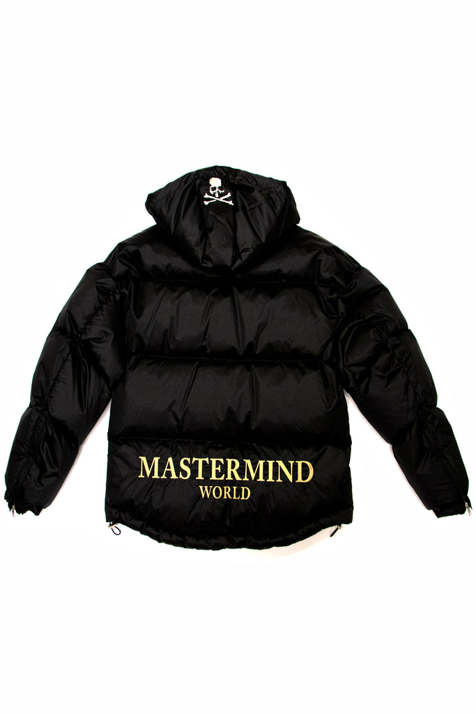 Mastermind World Hooded Down Jacket In Black