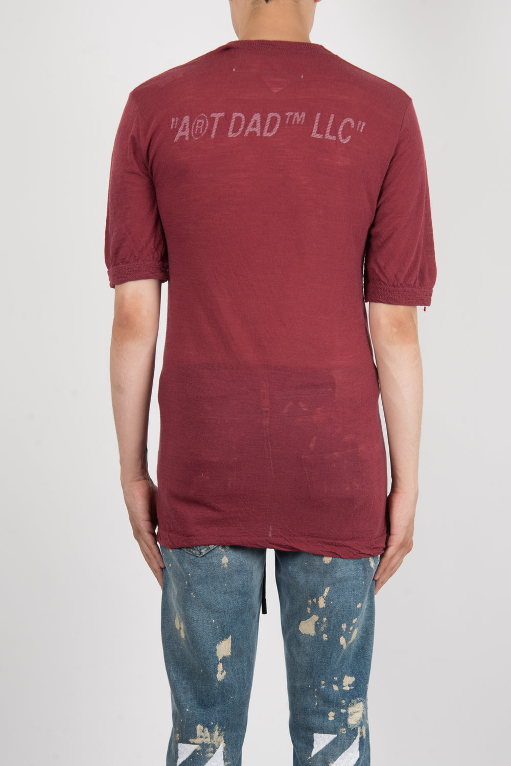 OFF-WHITE Nights Knitted T-Shirt In Bordeaux