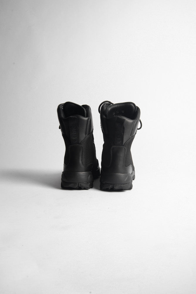 Marcelo Burlon Combat Hiking Boots In Black