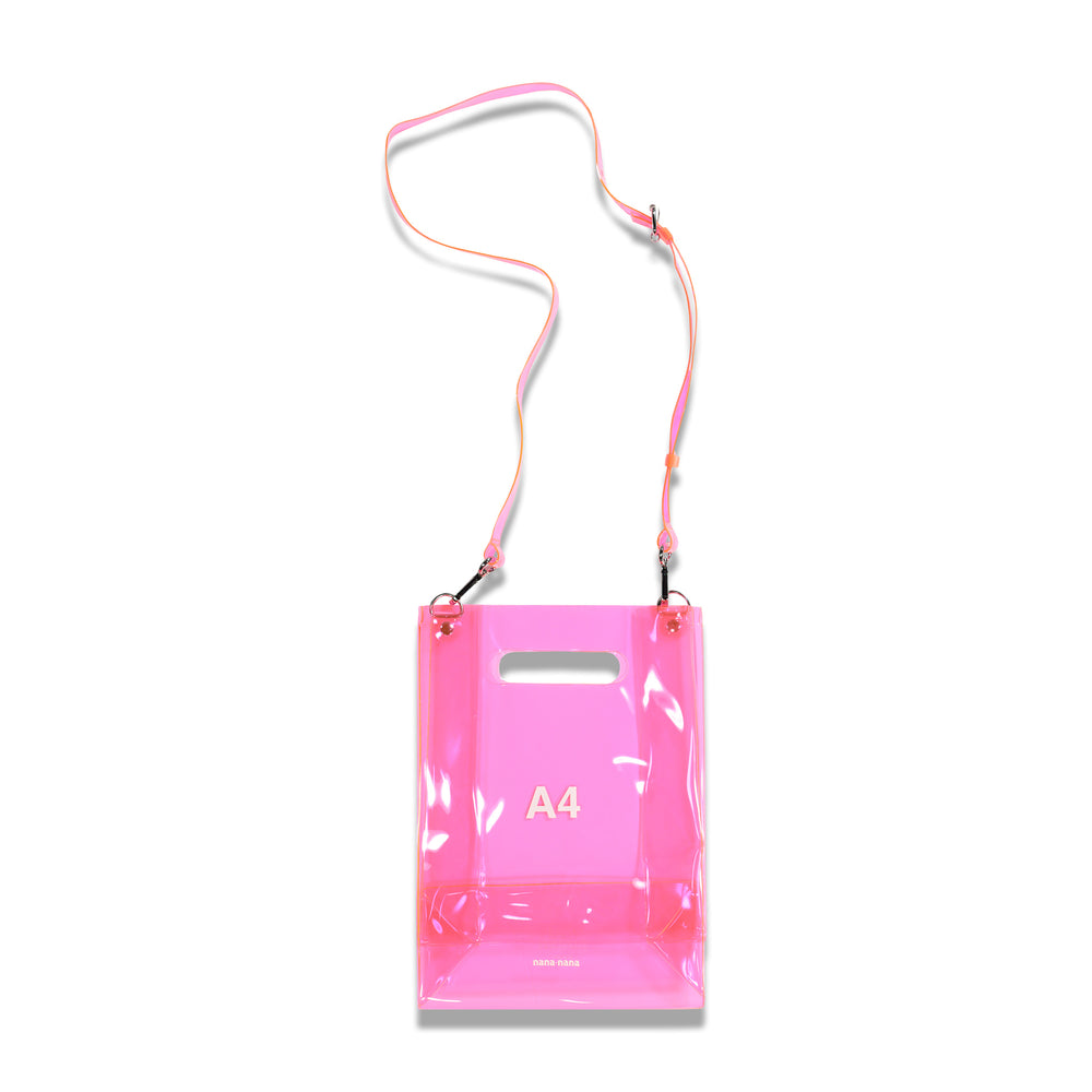 NanaNana A4 Transparent Bag In Neon Pink
