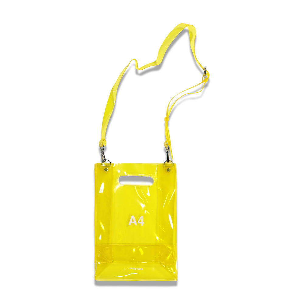 NanaNana A4 Transparent Bag In Yellow - CNTRBND