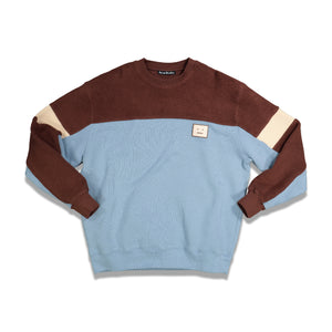 Acne Studios Fillmore Face Fleece Sweatshirt In Blue