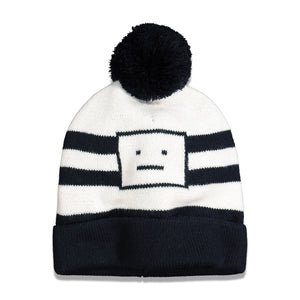 Load image into Gallery viewer, Acne Studios Kerris Jacquard Beanie In Navy/White - CNTRBND