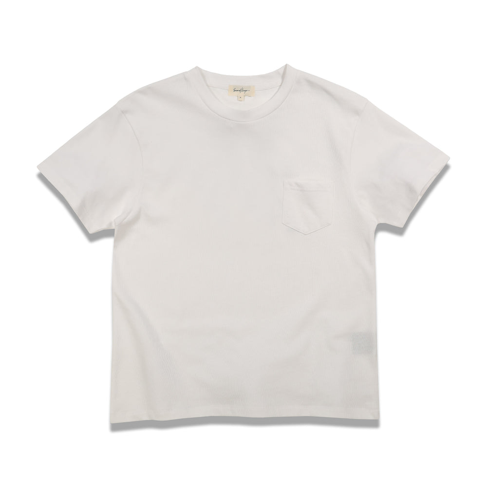 Second Layer Love Affair Serif Pocket Tee In White