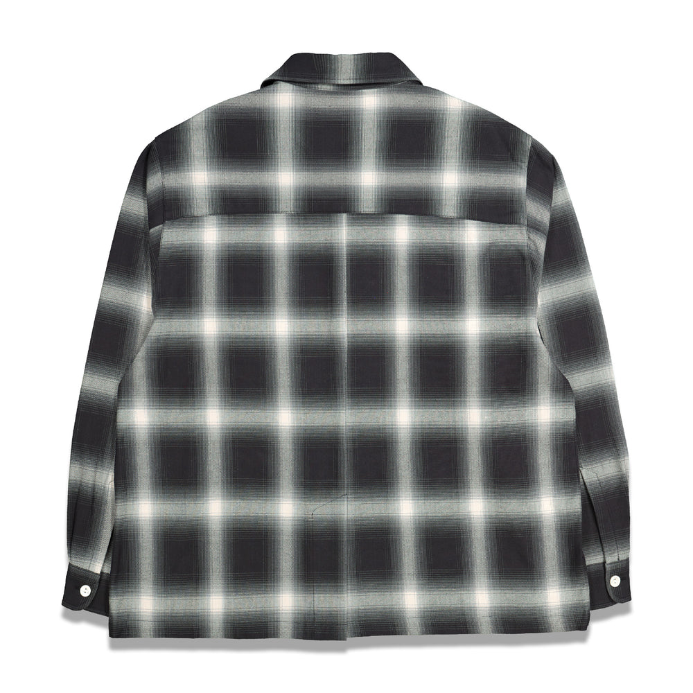 Second Layer Wide Body Ombre Shirt In Black/White