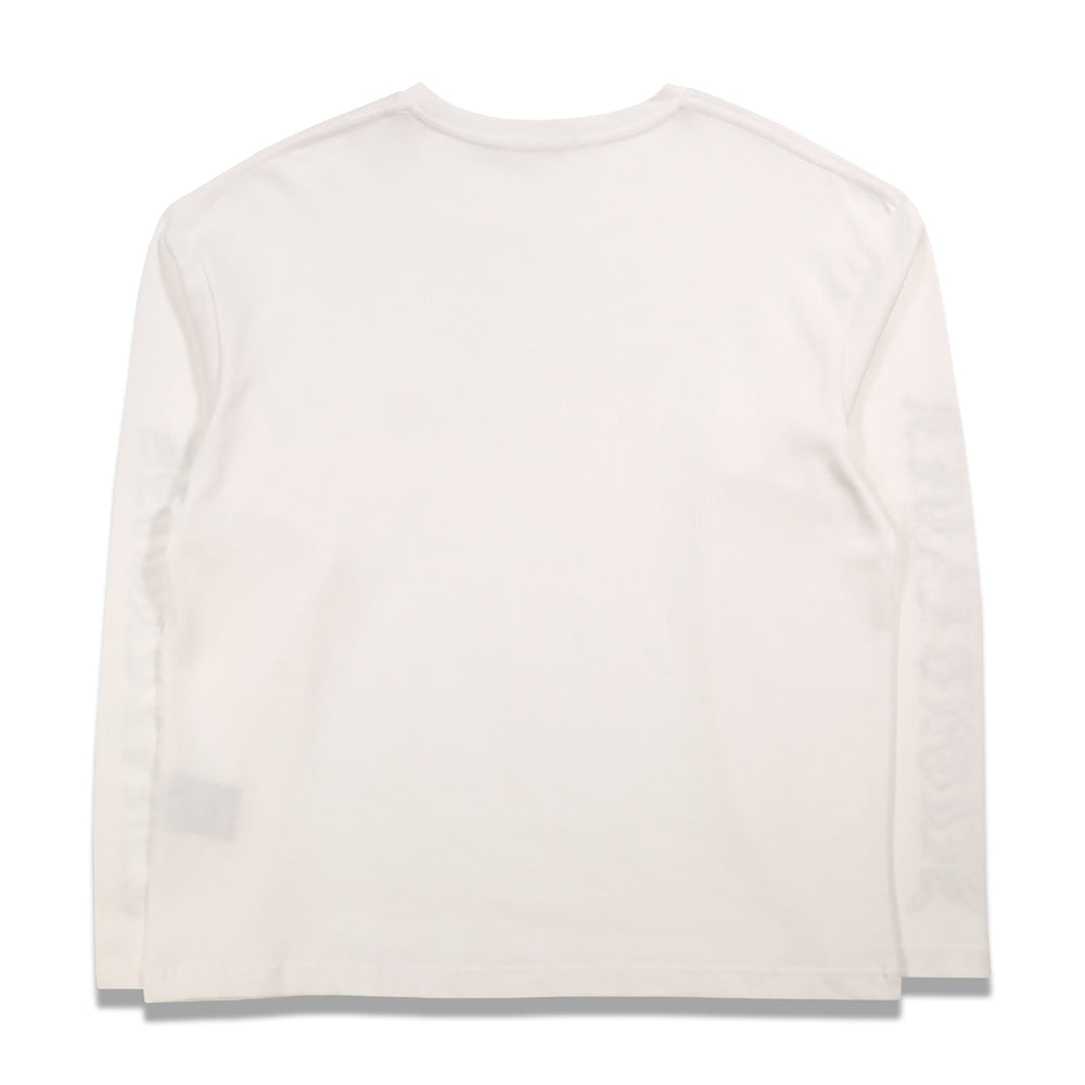 Second Layer Vete-Wave Vintage L/S T-Shirt In White