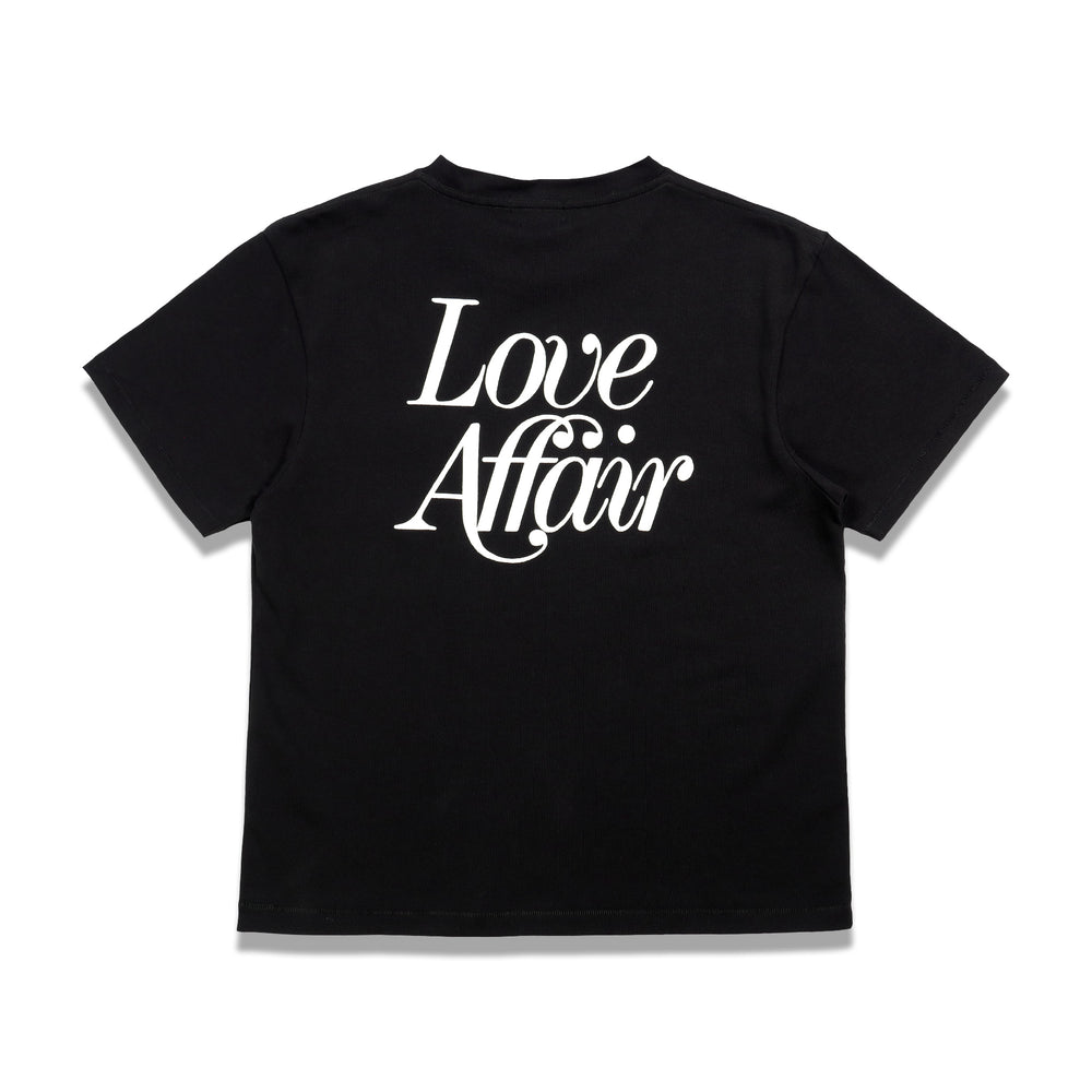 Second Layer Love Affair Serif Pocket Tee In Black