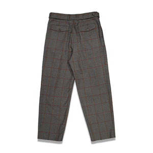 Dries Van Noten Phoenix Bis Check Pants In Grey