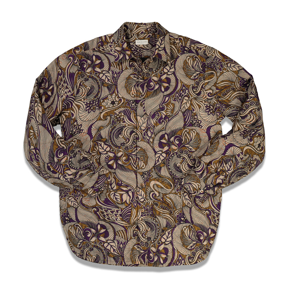 Load image into Gallery viewer, Dries Van Noten Constable Padded Shirt In Mustard