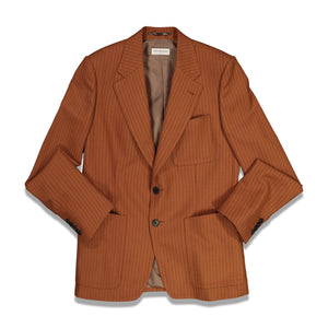 Dries Van Noten Barras Stripe Jacket In Rust