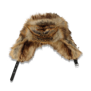 Dries Van Noten Gilman Faux Fur Trooper Hat In Natural - CNTRBND