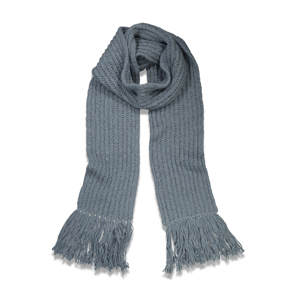 Dries Van Noten Maraz Knitted Scarf In Blue - CNTRBND
