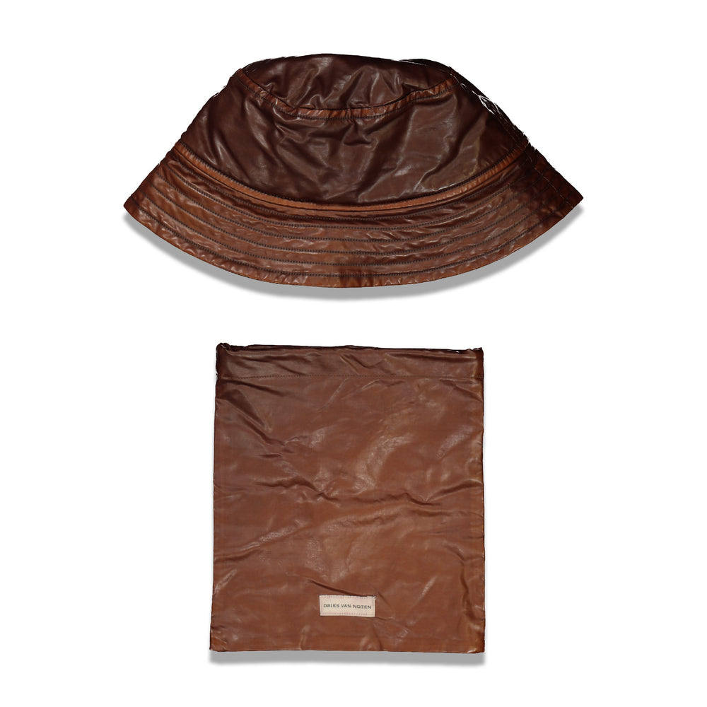 Dries Van Noten Gillian Bucket Hat In Brown