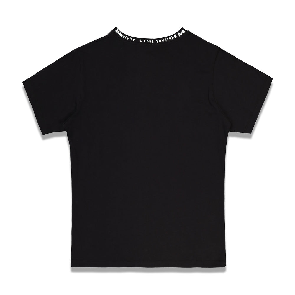 Solar Youth Uneven Neckline Flag T-shirt In Black