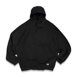 Big Pin Destroyed Oversized Hoodie In Black