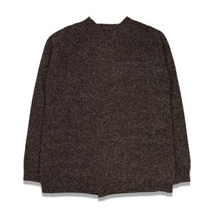 Stretched Neckline Pin Sweater In Dk Brown