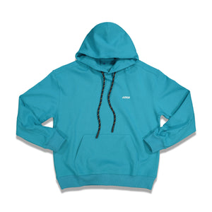 Load image into Gallery viewer, Front Print Detail Hoodie In Turquoise