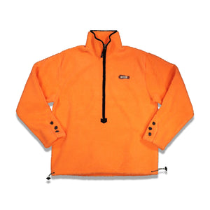 Shearling Half Zip-up Pullover In Orange