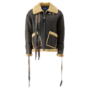 Load image into Gallery viewer, Mustang Half Oversized Fit Jacket In Brown