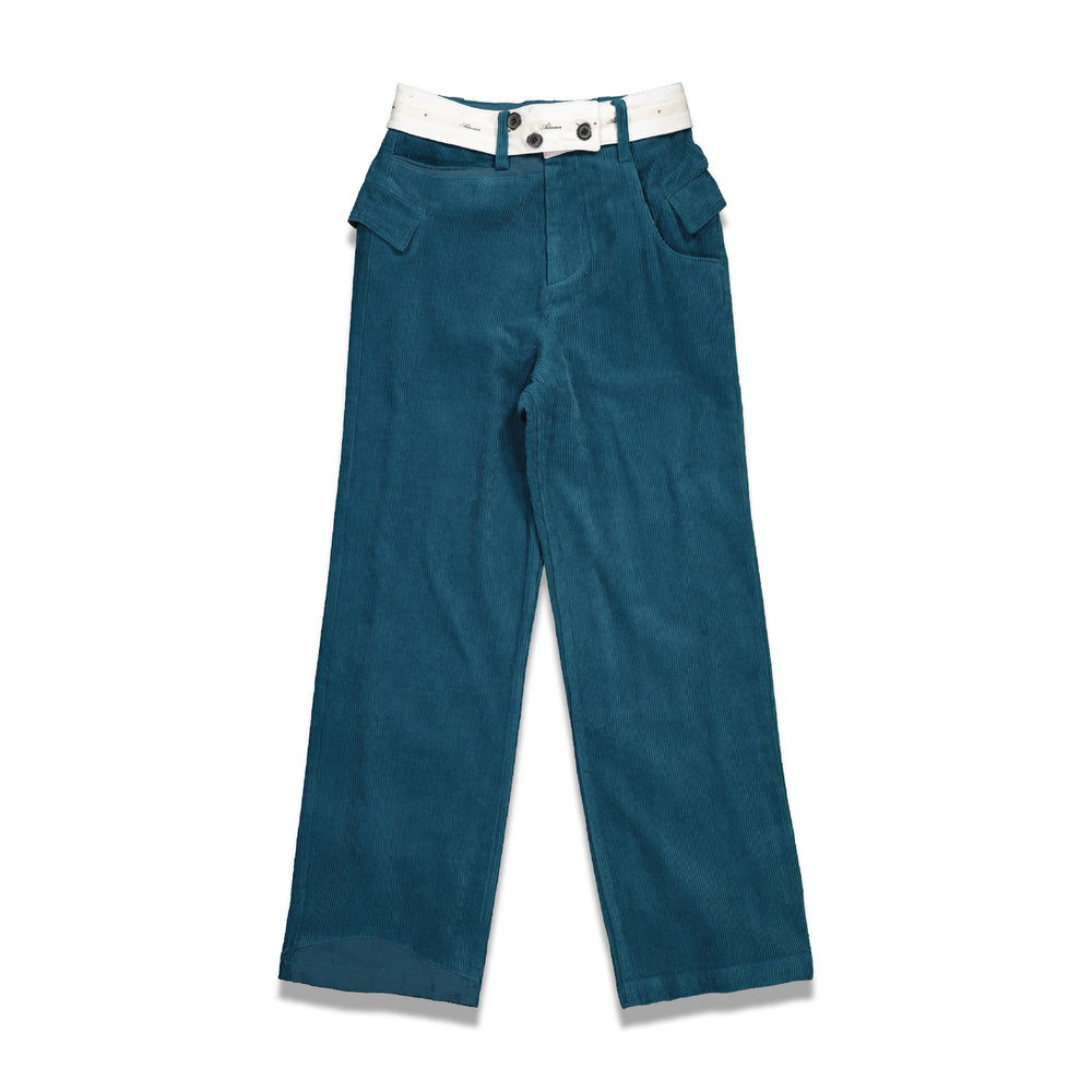 Both Asymmetric Pants In Blue
