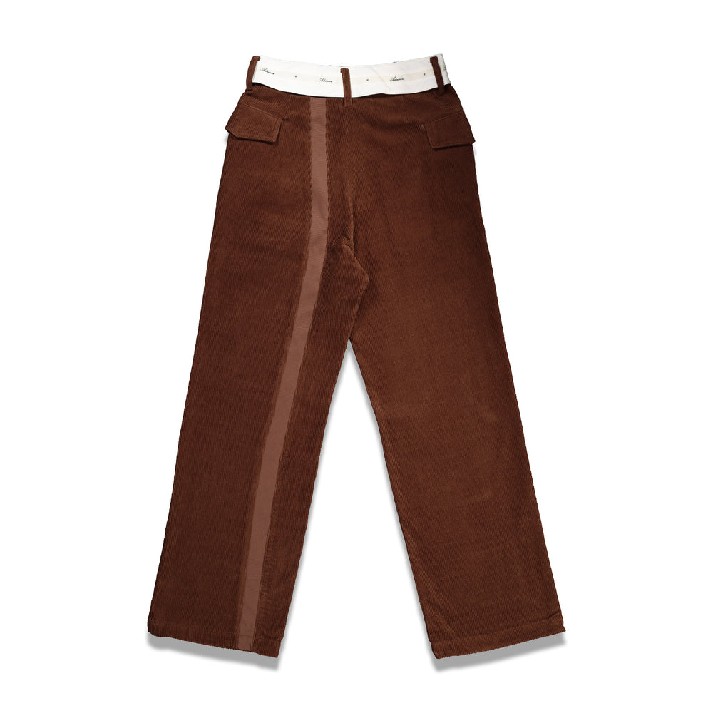 Both Asymmetric Pants In Brown