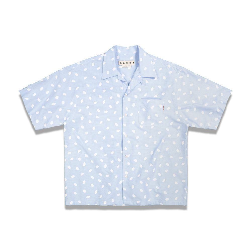 Dots S/S Casual Shirt In Lt Blue