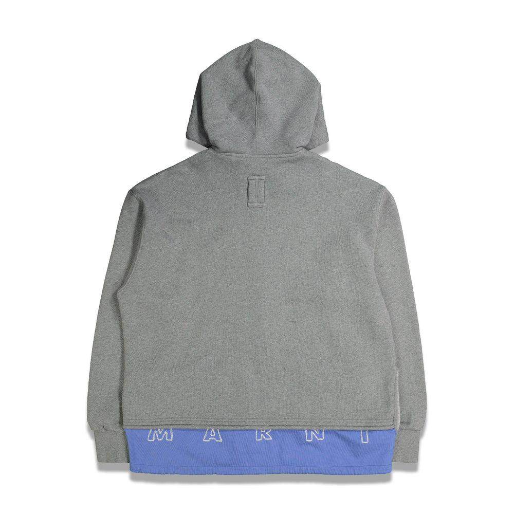 Extended Full Zip Hoodie In Grey