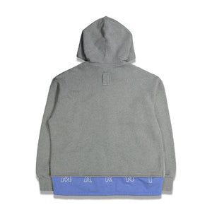 Extended Full Zip Hoodie In Grey - CNTRBND