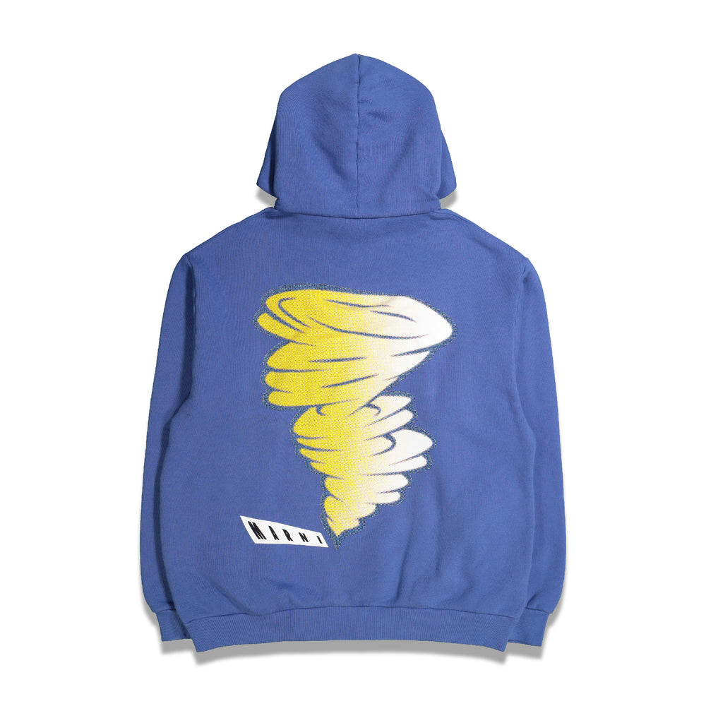Printed Graphic Hoodie In Blue