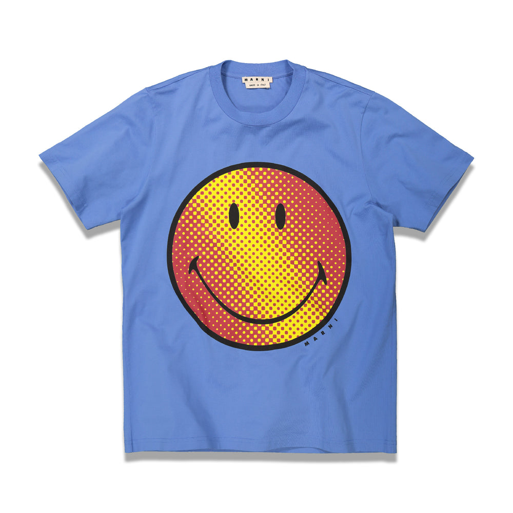 Smiley Print T-Shirt In Blue