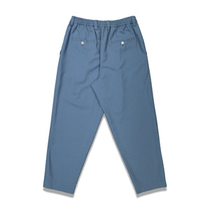 Casual Wide Leg Trousers In Blue