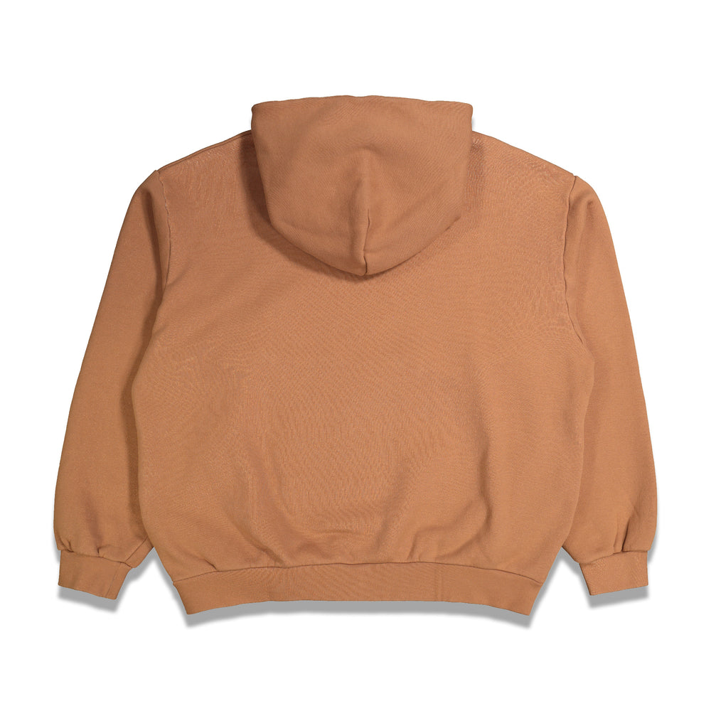 Oversized Plain Hoodie In Cinnamon