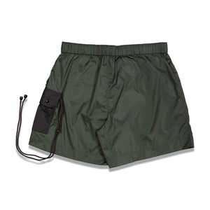 Cargo Nylon Shorts In Olive