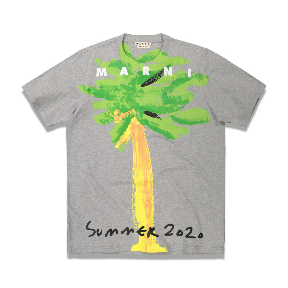 Printed Palm T-Shirt In Grey