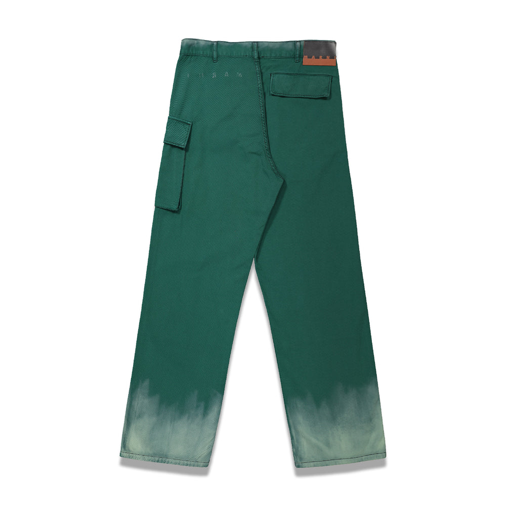 Ombre Cargo Trousers In Petrol